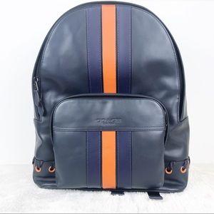Coach Houston BackPack Navy and Orange